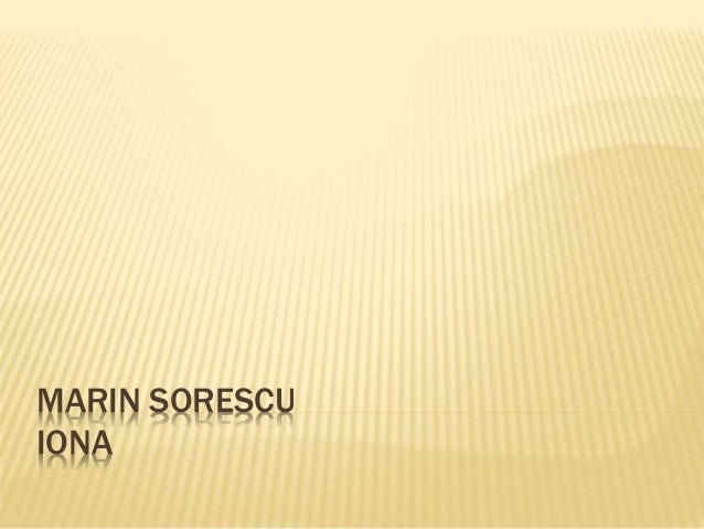 MARIN SORESCU IONA