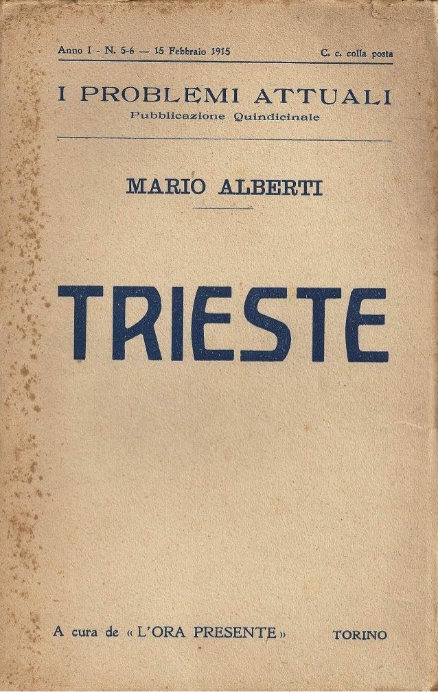 Mario Alberti - Trieste (1915)