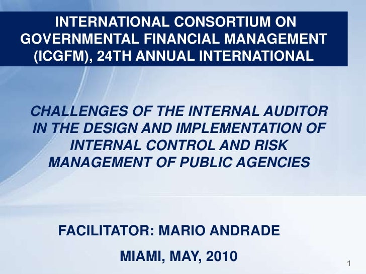 1<br />INTERNATIONAL CONSORTIUM ON GOVERNMENTAL FINANCIAL MANAGEMENT (ICGFM), 24TH ANNUAL INTERNATIONAL <br />CHALLENGES O...
