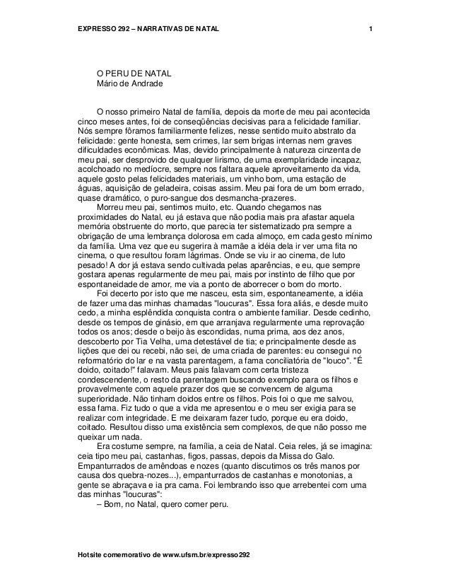EXPRESSO 292 – NARRATIVAS DE NATALHotsite comemorativo de www.ufsm.br/expresso2921O PERU DE NATALMário de AndradeO nosso p...