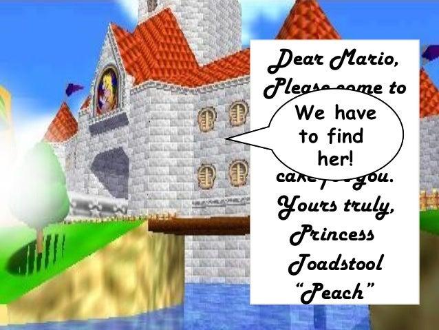 Dear Mario I Have Baked A Cake