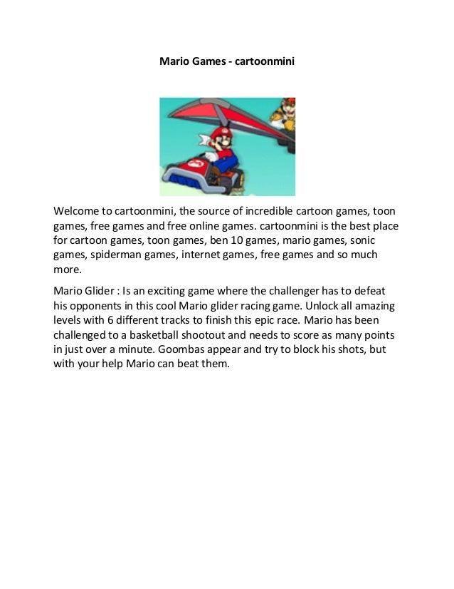Mario Games - cartoonmini Welcome to cartoonmini, the source of incredible cartoon games, toon games, free games and free ...