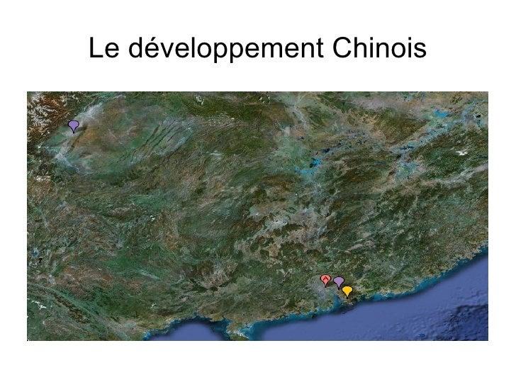 Le développement Chinois