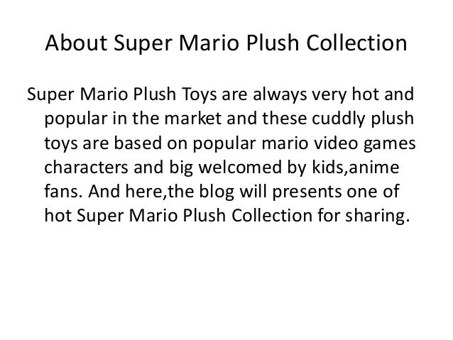 Advice on Super Mario Plush Collection 2017 ? Slide 2