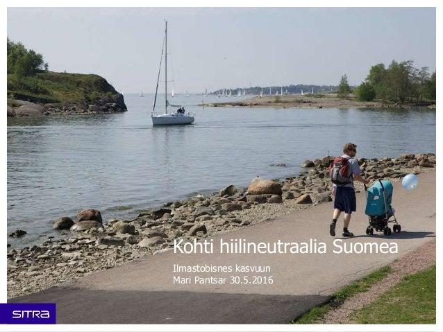 Kohti hiilineutraalia Suomea Ilmastobisnes kasvuun Mari Pantsar 30.5.2016