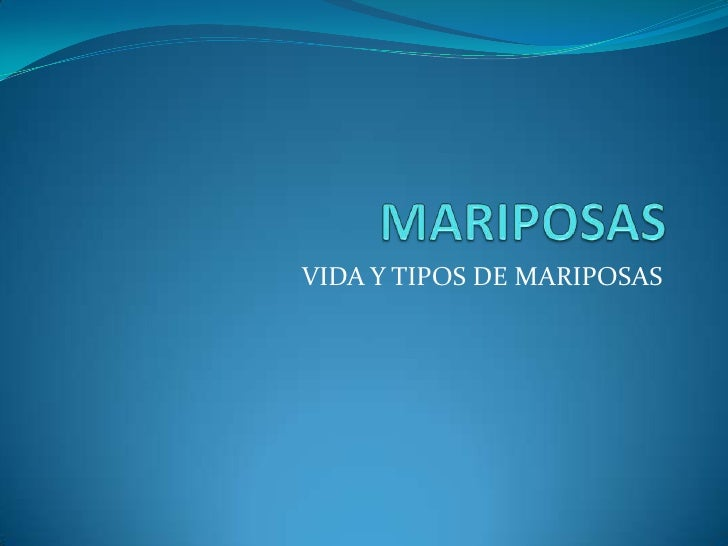 MARIPOSAS<br />VIDA Y TIPOS DE MARIPOSAS<br />