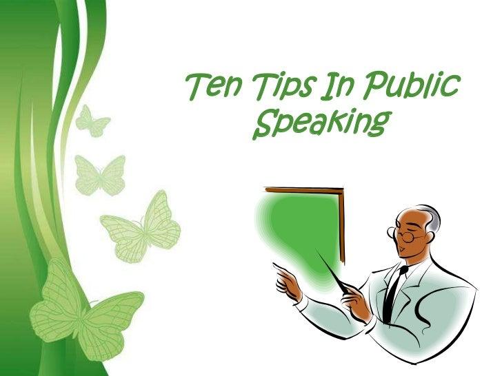 Ten Tips In Public    SpeakingFree Powerpoint Templates   Page 1