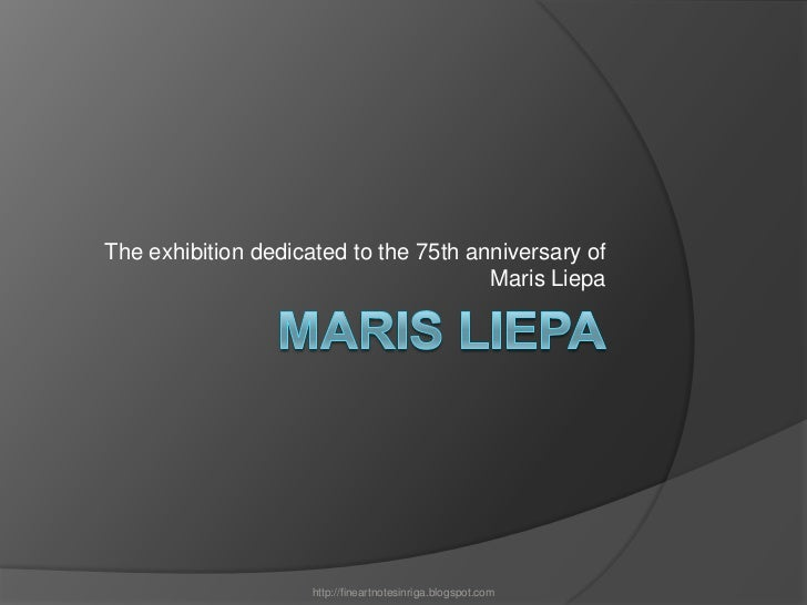 Maris Liepa<br />Theexhibitiondedicated to the 75th anniversaryof Maris Liepa<br />http://fineartnotesinriga.blogspot.com<...