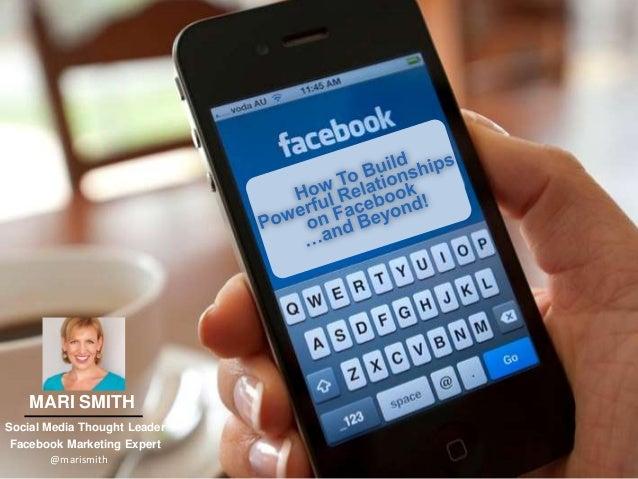 1 MARI SMITH Social Media Thought Leader Facebook Marketing Expert @marismith