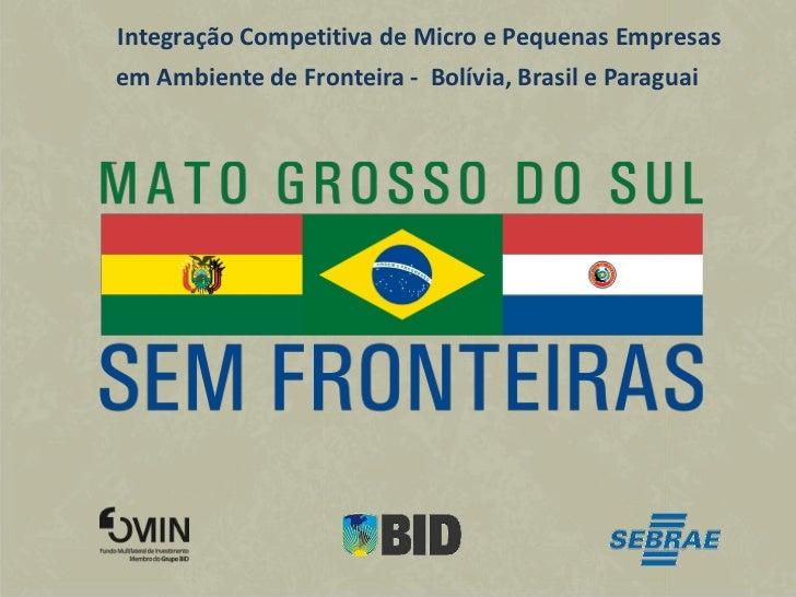 Integração Competitiva de Micro e Pequenas Empresasem Ambiente de Fronteira - Bolívia, Brasil e Paraguai