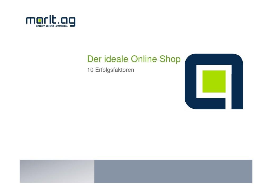 Der ideale Online Shop 10 Erfolgsfaktoren