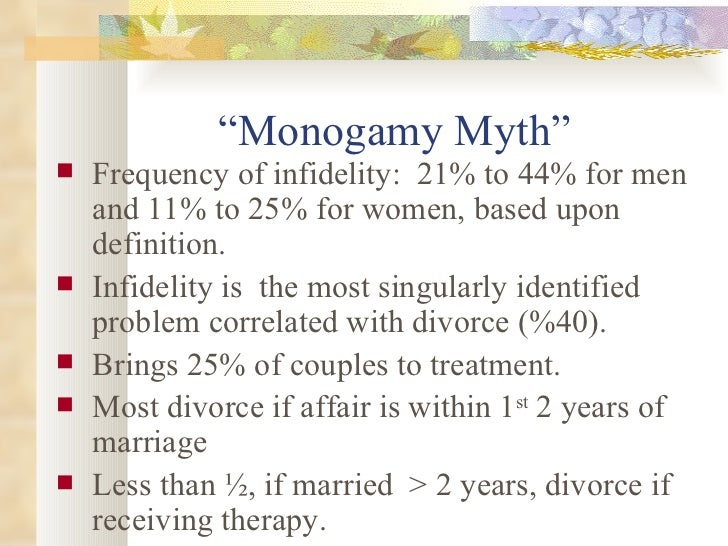 Marital counseling and infidelity