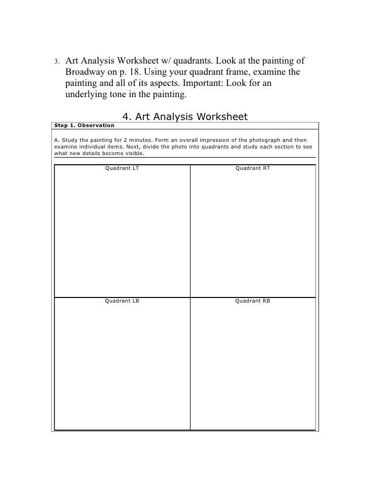 Maritcha Thematic Unit – Art Analysis Worksheet