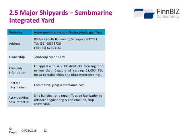 Sembcorp marine integrated yard pte ltd acra