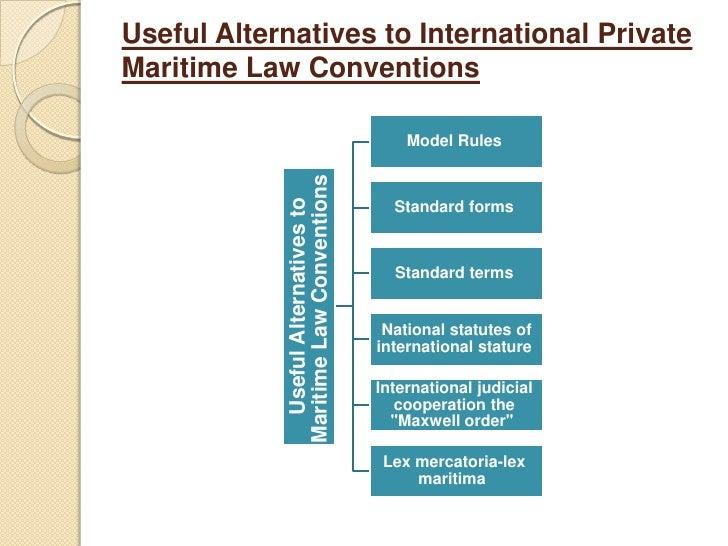 Maritime law 2012 for Chambre arbitrale