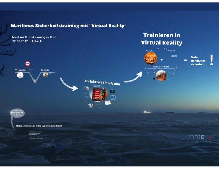 Maritimes sicherheitstraiing mit virtual reality