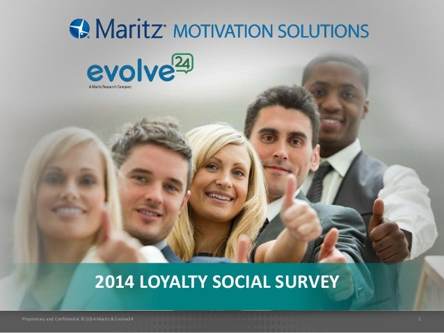 Proprietary and Confidential © 2014 Maritz & Evolve24 1 2014 LOYALTY SOCIAL SURVEY