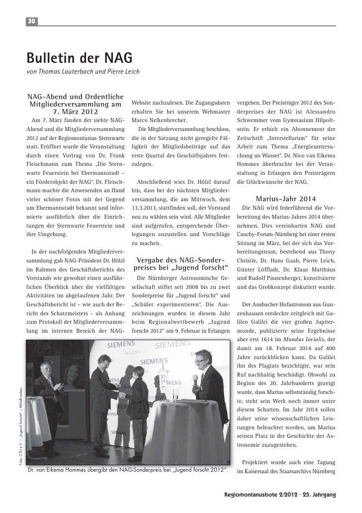 30                                                     Bulletin der NAG                                                   ...