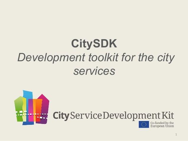 CitySDK Development toolkit for the city services  1