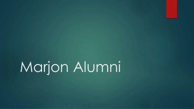 Marjon Alumni