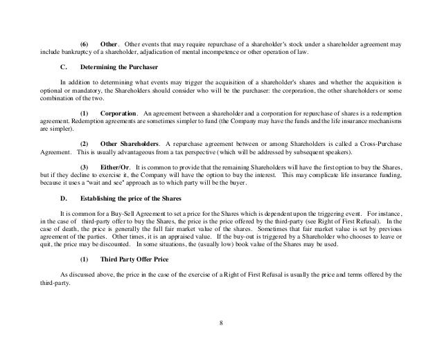 Business Law Order May 2013 Marjorie – Sample Stock Purchase Agreement