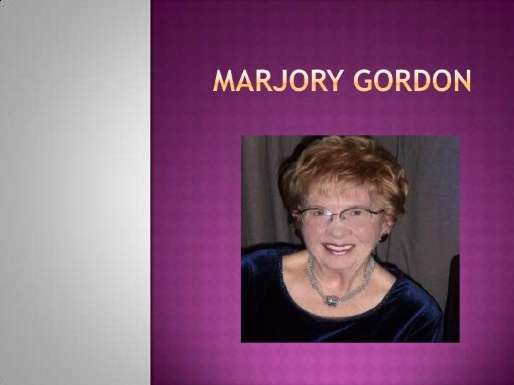 MARJORY  GORDON en una leyenda viviente en su reunión anual, celebrada en noviembre de 5-7 en Atlanta. Gordon ha dirigi...