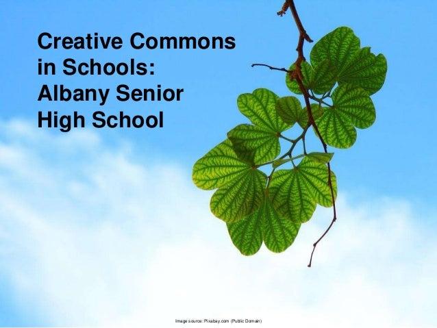 Image source: Pixabay.com (Public Domain) Creative Commons in Schools: Albany Senior High School