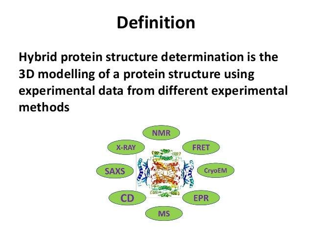 Protein structure determination from hybrid NMR data.