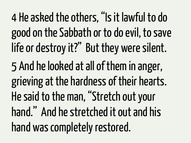The Gospel According to Jesus: Session #12. Mark 3:1-6