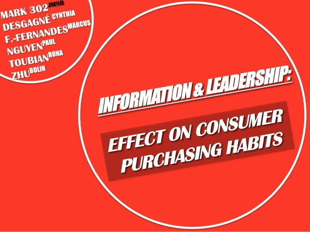 INFORMATION OVERLOAD IN THE CONTEXT OF APPAREL, EFFECTS ON CONFIDENCE, SHOPPERS ORIENTATION AND LEADERSHIP (JULIE V. STANT...