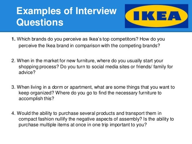 Purchase Decisions 5 Examples Of Interview Questions