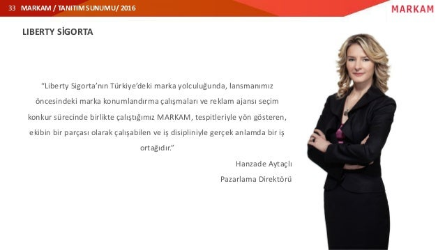 """MARKAM / TANITIM SUNUMU/ 201633 LIBERTY SİGORTA """"Liberty Sigorta'nın Türkiye'deki marka yolculuğunda, lansmanımız öncesind..."""