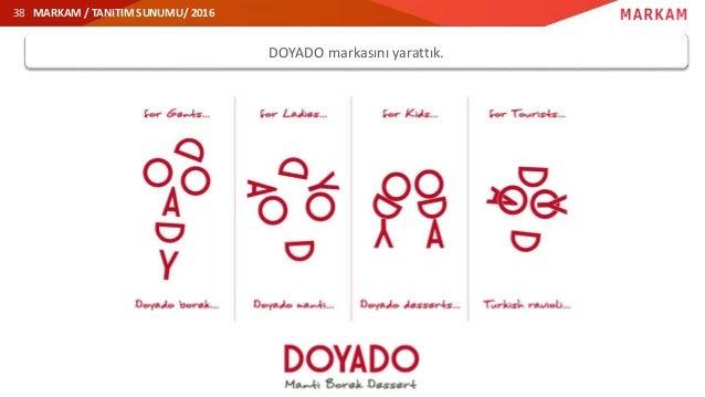 MARKAM / TANITIM SUNUMU/ 2016 DOYADO markasını yarattık. 38