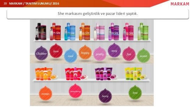 MARKAM / TANITIM SUNUMU/ 2016 She markasını geliştirdik ve pazar lideri yaptık. 39