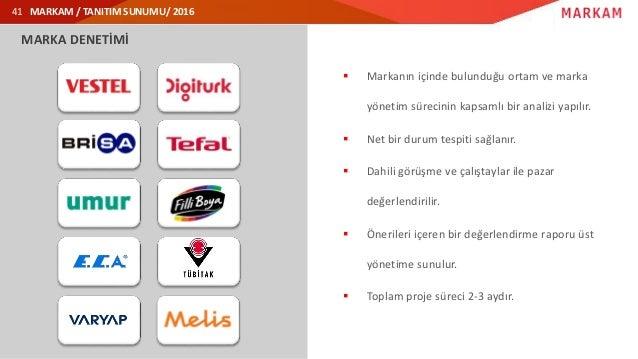 MARKAM / TANITIM SUNUMU/ 2016 MARKA DENETİMİ  Markanın içinde bulunduğu ortam ve marka yönetim sürecinin kapsamlı bir ana...