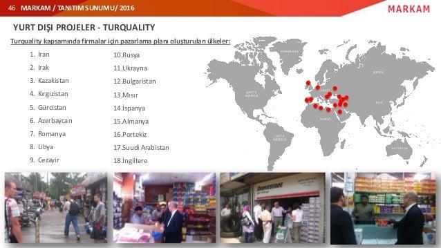 MARKAM / TANITIM SUNUMU/ 2016 YURT DIŞI PROJELER - TURQUALITY Turquality kapsamında firmalar için pazarlama planı oluşturu...