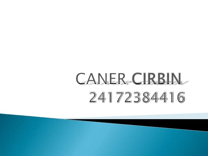 CANERCIRBIN<br />24172384416<br />