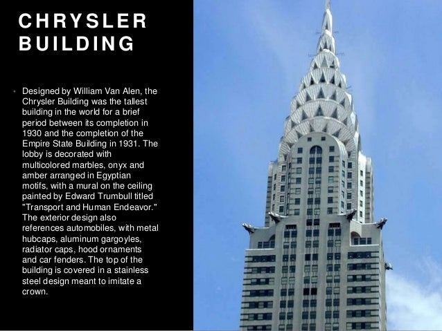Mark cohen top 5 art deco skyscrapers in nyc for Chrysler building mural