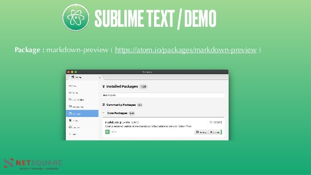 SUBLIMETEXT/DEMO Package : markdown-preview ( https://atom.io/packages/markdown-preview )