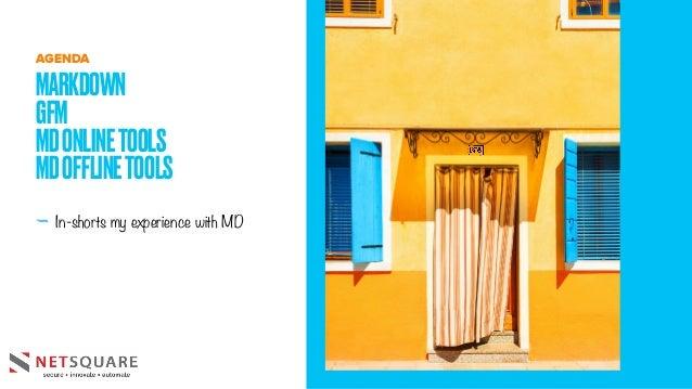 - In-shorts my experience with MD MARKDOWN GFM MDONLINETOOLS MDOFFLINETOOLS AGENDA