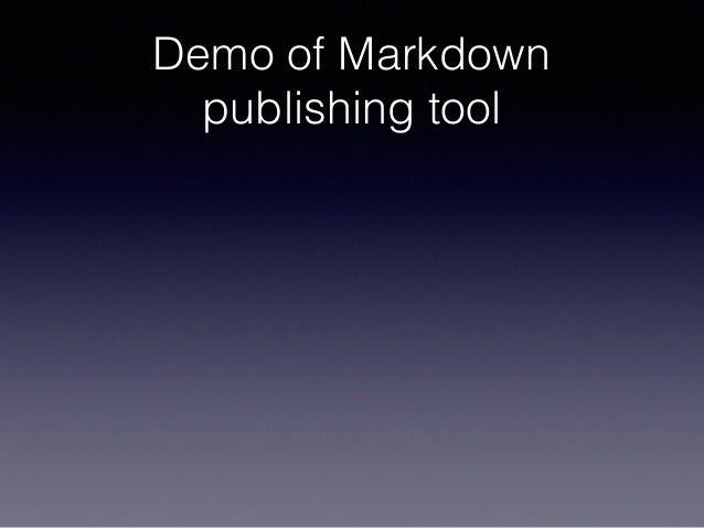 Demo of Markdown publishing tool