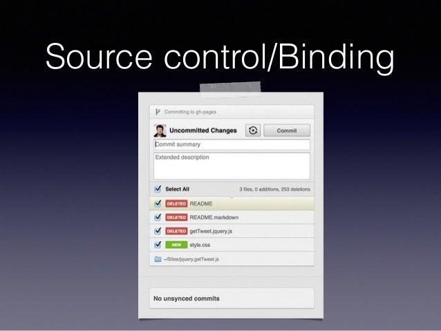 Source control/Binding