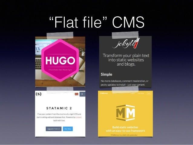 """Flat file"" CMS"