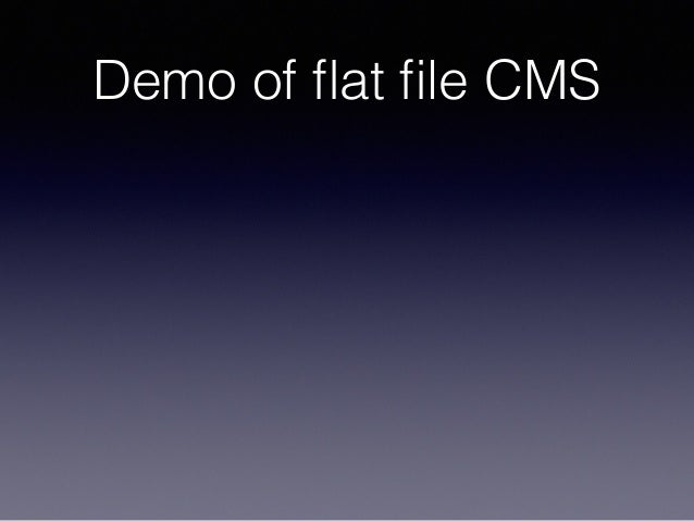 Demo of flat file CMS