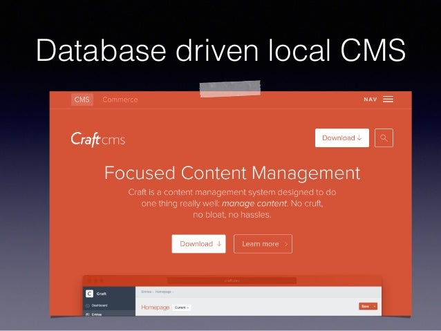Database driven local CMS