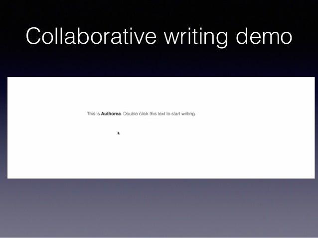 Collaborative writing demo