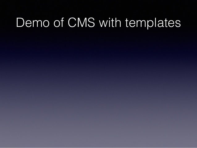 Demo of CMS with templates