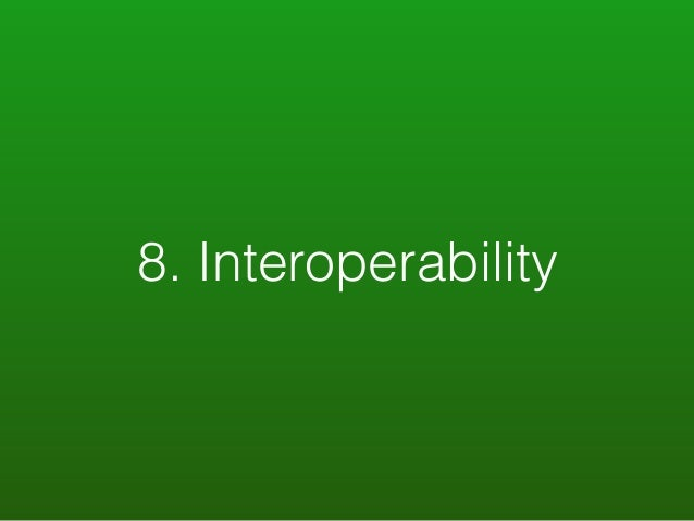 8. Interoperability