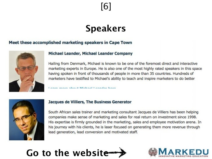 [6]            SpeakersGo to the website