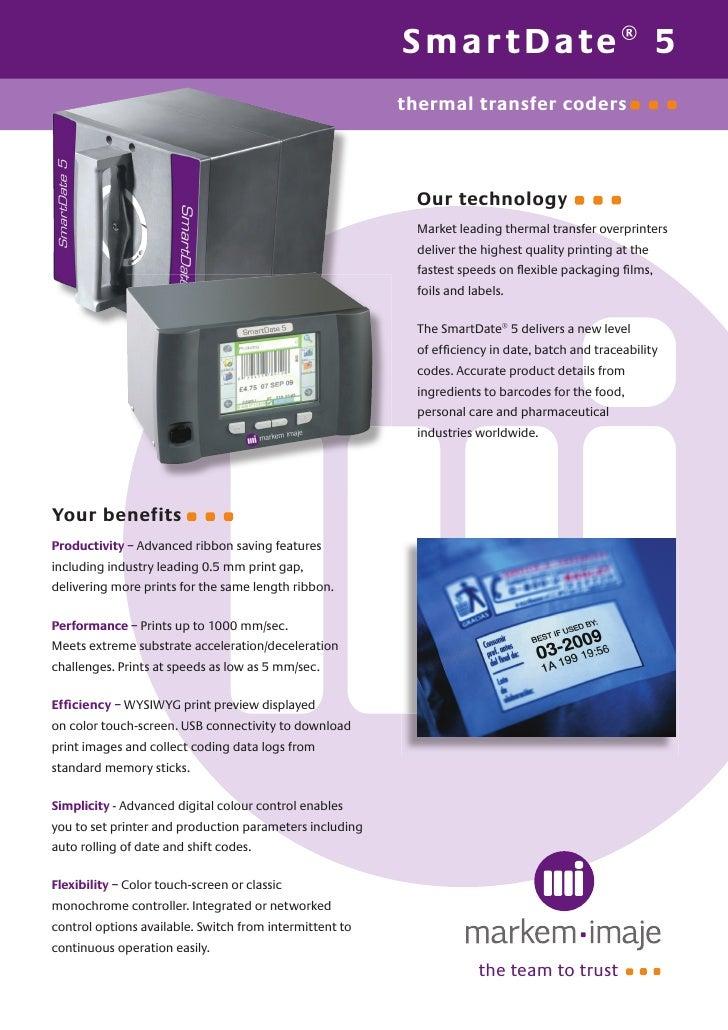 markem imaje smart date 5 thermal transfer rh slideshare net markem imaje 9030 printer manual markem 5200 case printer manual